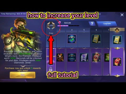 -Mobile legends-starlight event | how to increase your level | full tutorial and rewards 💎