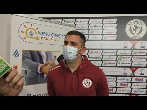 Arezzo-Vis Pesaro 4-2, intervista a Cristian Carletti