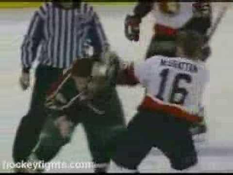 Brian McGrattan vs Derek Boogaard