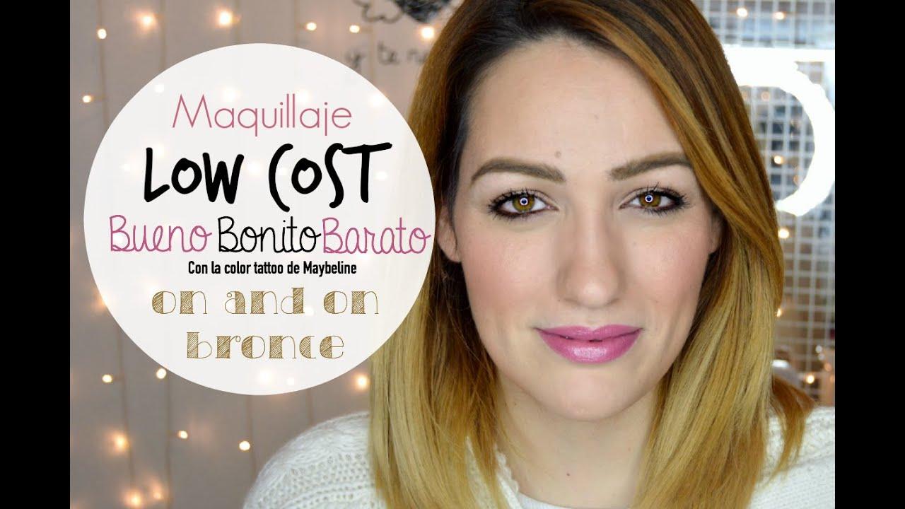 Videotutorial Maquillaje Low Cost: Bueno, Bonito y Barato con Sombra Color Tatto de Maybelline