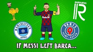 The Onefootball x 442oons show is here again and this time it's Lionel Messi who has a big decision to make! As he prepares to leave Barcelona, clubs like Man City, Liverpool, Juventus, Tottenham and PSG are all interested in his signature, but where will he end up?  ► Liked the video? Let us know by subscribing to our channel: http://bit.ly/SubscribeToOnefootball ► Liked it a lot? Download our app: http://bit.ly/2GeDHEK Onefootball is the world's most comprehensive football app and is available free on iOS, Android and Windows Phone!  ► Check our website: https://www.onefootball.com/en ► Like us on Facebook: http://bit.ly/1YpT8ud ► Follow us on Twitter: http://bit.ly/2lDcoK8 ► Follow us on Instagram: http://bit.ly/1U7uYQh ► Listen to the Onefootball podcast: http://bit.ly/2617W55  Photo credits: Getty