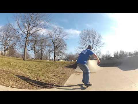 Slomo Ripstick Bail at Voorhees park skatepark in Terre Haute