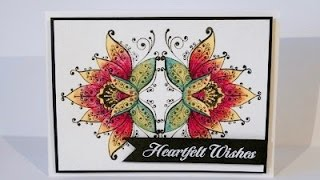 Watercolor card - Tarjeta con acuarelas