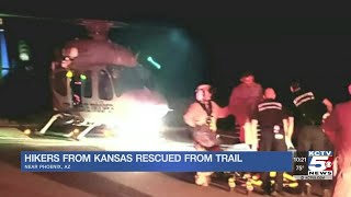 Hikers from Kansas rescued from trail in Arizona