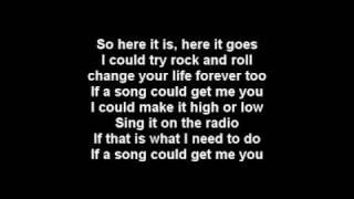 Marit Larsen - If A Song Could Get Me You LYRICS + Karaoke Instrumental