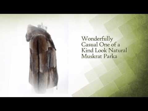 One of a Kind Look Natural Muskrat Fur Parka With Hood. Appraised at $2,800! - www.dayfursinc.com