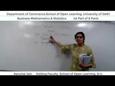 B.Com 2nd Semester (B.M.S) Lecture - Aanchal Jain  Part-1