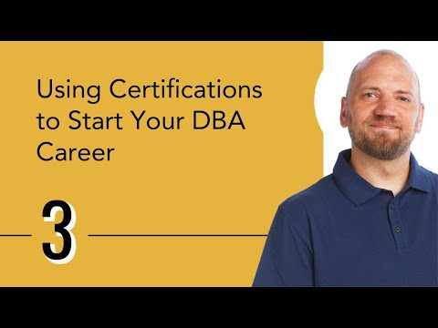 Using Certifications to Start Your DBA Career - YouTube