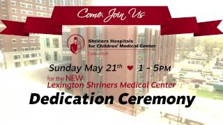 We are dedicating our new medical center in Lexington on May 21 come join us