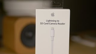 Review: Lightning to SD Card Reader (USB 3.0) - faster iPad Pro Xfers!