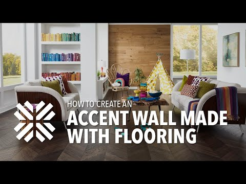 How to Create a Laminate Flooring Accent Wall!