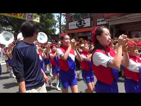 赤羽馬鹿祭り'18 先発パレード 赤羽小学校レッドウイングス