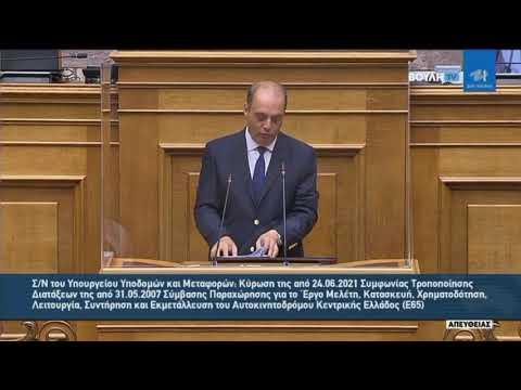 Κ.Βελόπουλος(Πρόεδρος ΕΛΛΗΝΙΚΗ ΛΥΣΗ)(Κύρωση Συμφωνίας)(13/07/2021)