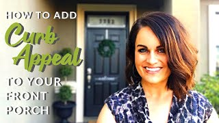 DIY Small Front Porch Makeover On A Budget!