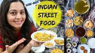 Favorite Indian Street Food at home | Pani Puri, Aloo Tikki, homemade sev & boondi