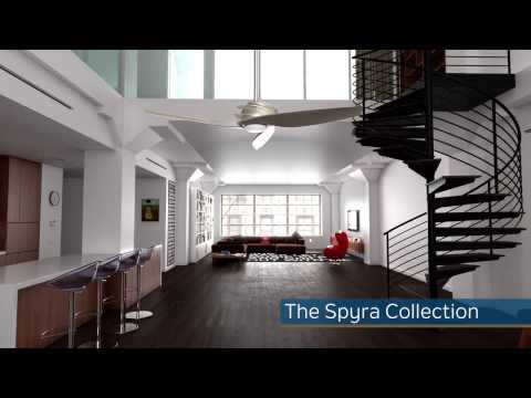 Video for Spyra Textured Brushed Nickel 62-Inch Energy Star LED Ceiling Fan