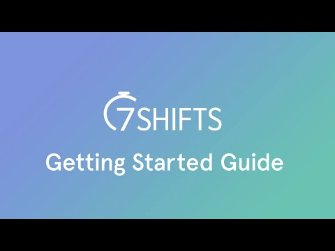 Getting started with 7shifts: Restaurant Employee Scheduling Software youtube video thumbnail