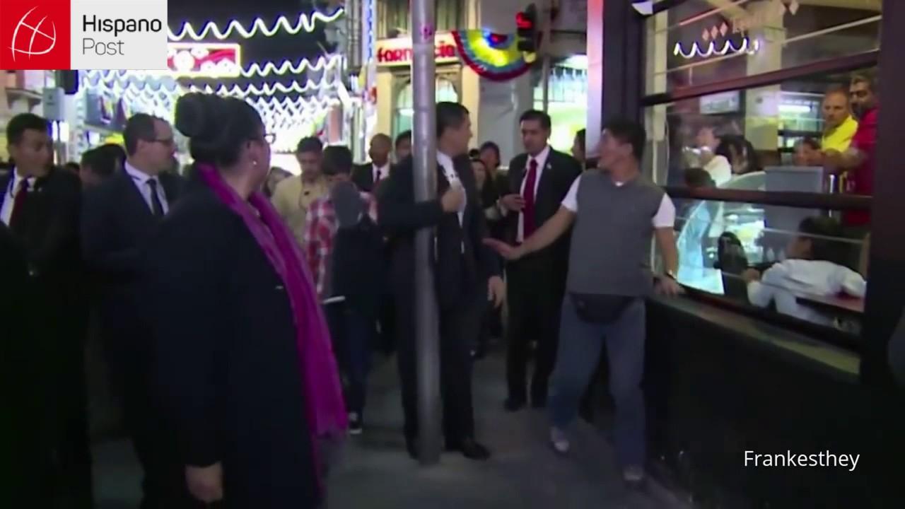 Rafael Correa se estrelló contra un poste de luz