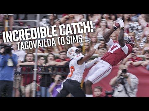 Alabama's ridiculous catch against Mercer: Tua Tagovailoa to Cam Sims