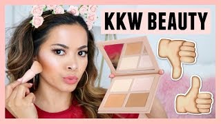 My HONEST First Impressions Review On KKW Beauty Powder Contour & Highlight Kits + Swatches!