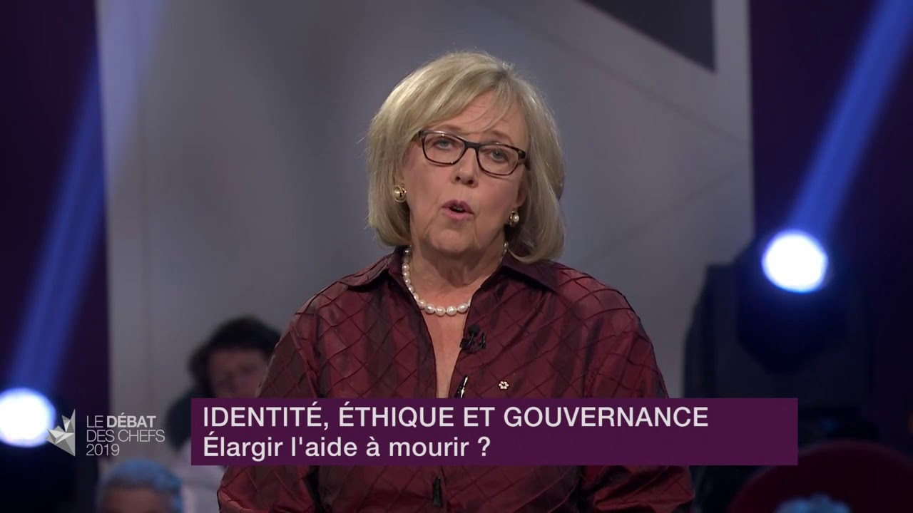 Elizabeth May répond à la question d'un citoyen sur l'aide médicale à mourir