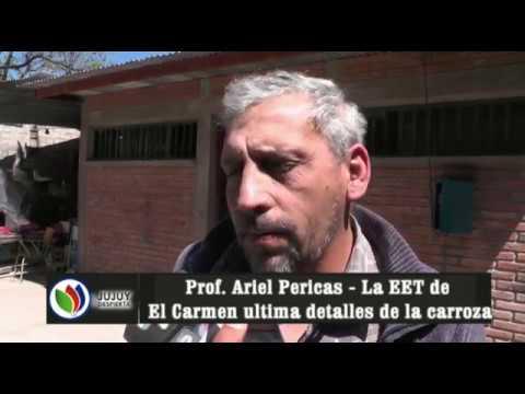LA ESCUELA TÉCNICA DEL CARMEN ULTIMA DETALLES DE LA CARROZA