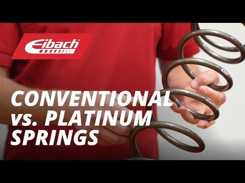 Eibach Conventional Springs and Eibach Platinum Springs