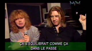 """Def Leppard interview 1996 about """"Slang"""" album with Joe Elliot and Rick Savage (MCM France)"""