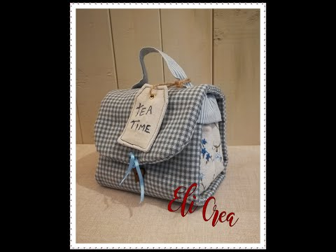 📌🌿1°parte tutorial Mug Bag - pochette porta tazza da thè