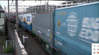 2013.6.15東海道本線貨物列車54レ海コン、新U48Aセンコーあり!