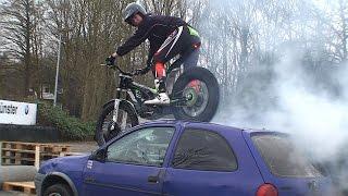 Motorrad Trial mit Daniel