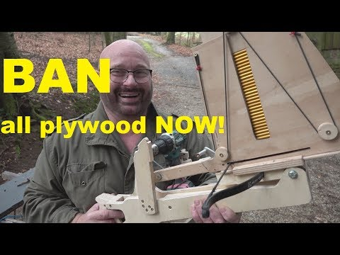 Awesome guy creating full auto crossbow with joyful laughter. What a guy