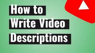 How to Write a Description for YOUTUBE  ▷ TIPS and EXAMPLES