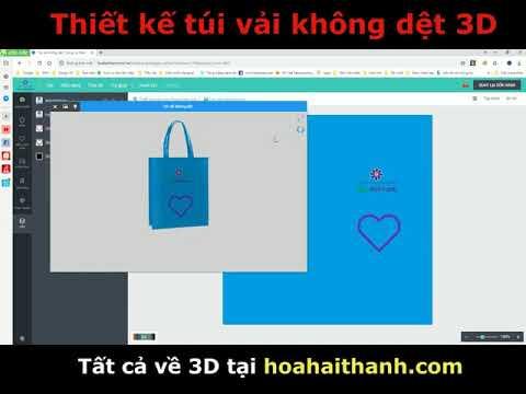 Thiết kế túi vải 3D