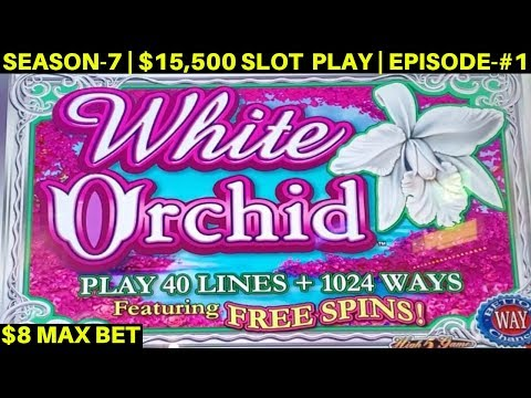 White Orchid Slot Machine $8 Max Bet Bonus & Big Line Hits- Great Session | SEASON-7 | EPISODE #1