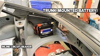 Relocating the battery to the trunk! 280z