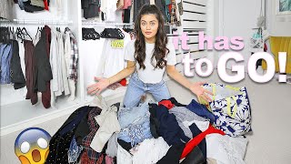 CLOSET CLEAR OUT!😳 SELLING Half My WARDROBE! New Year Declutter!