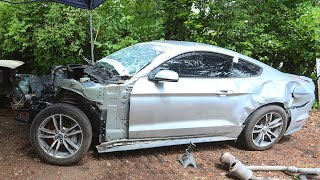 Oscars Mustang Gets Engine Pulled And Frame Repaired!