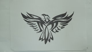 Ep. 121 - How To Draw Eagle Tribal Tattoo Design