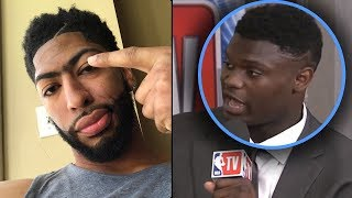 """Zion Williamson Tells Media """"TRADE ME TO THE KNICKS OR IM NOT PLAYING!"""" & Anthony Davis SUPPORTS HIM"""