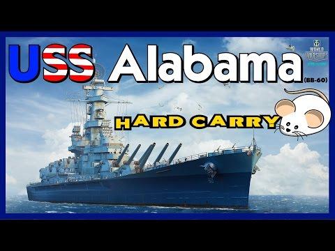 Alabama - LittleWhiteMouse Hard Carry || World of Warships