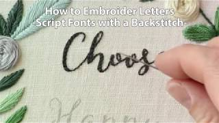 How To Embroider Letters Script Using A Backstitch