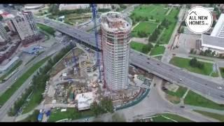 Жилой комплекс «Флотилия». Вид с воздуха.