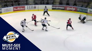 Must See Moment: Josh Van Unen dishes the puck behind his back to Tyler Kostelecky for the goal