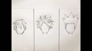 How To Draw Male Anime Hair 3 Different Ways