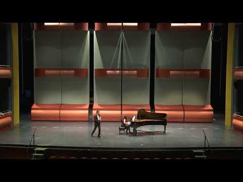 Jean Franćaix - Clarinet Concerto   Concerto Competition at the Gallagher Bluedorn Performing Arts Center.