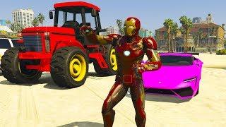 Смотреть новый Мультик про Машинки Трактор Маквин Полицейскую машину и Супергерои для детей