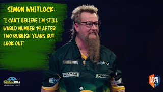 "Simon Whitlock: ""I can't believe I'm still world number 14 after two rubbish years but look out"""