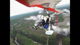 """Flying"" over Victoria Falls in a Microlight"