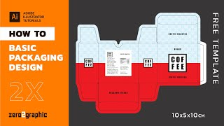 How To Basic Packaging Design In Adobe Illustrator (shape Tools -path Stroke -box Template Design)